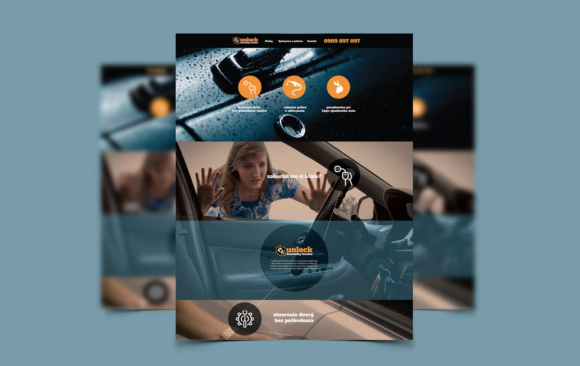 Tanuška Unlock - Webstránka a Eshop