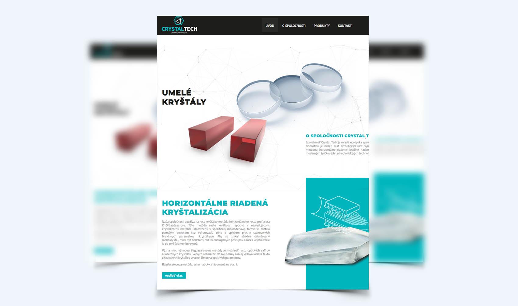 Crystal Tech - Webstránka a Eshop